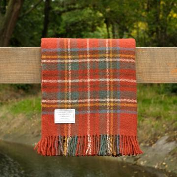 Pure Wool Throw in Antique Royal Stewart