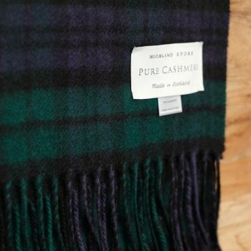 Cashmere scarf-in-Black-Watch-Tartan.-100%-pure-cashmere.-Made-in-Scotland