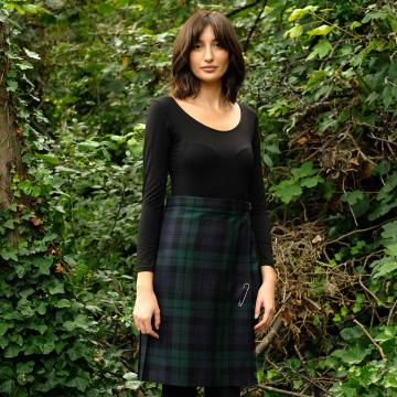 Knee Length Kilt Navy Stewart