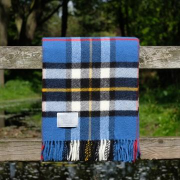Highland Store Utility Rug Blue Thompson. Pure Wool Throw in Blue Thompson. Tartan Blanket