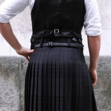 Mens Worsted Wool 8 Yard Grey Spirit Kilt