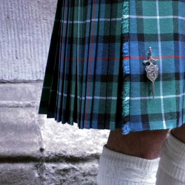 Mens 8 Yard Pure Wool Kilt