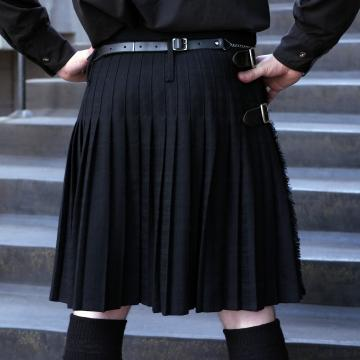 Mens Black 2 Yard Budget Kilt