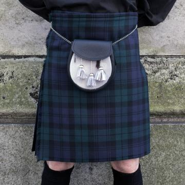 Mens Pure Worsted Wool 2 Yard Kilt  Black Watch