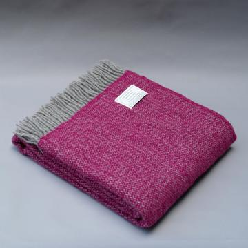 Pure New Wool Blanket in Fuchsia