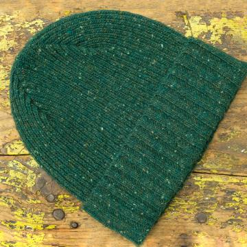 Speckled Beanie Hat in Green