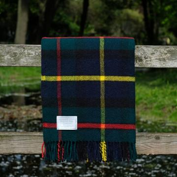 Pure Wool Throw in Modern Macleod. Tartan Blanket. Modern Macleod Blanket