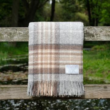 Highland Store Utility Rug MacKellar. Pure Wool Throw in MacKellar. Tartan Blanket
