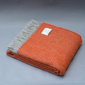 Pure New Wool Blanket in Orange