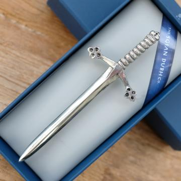 Knight sword kilt pin