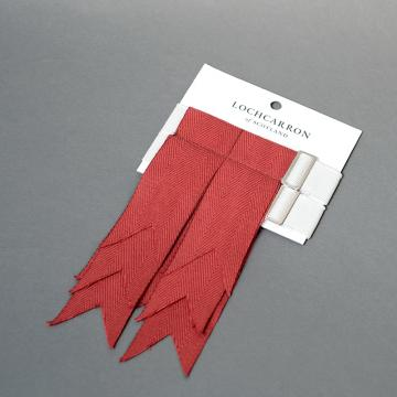 Weathered Red Kilt Flashes by Lochcarron