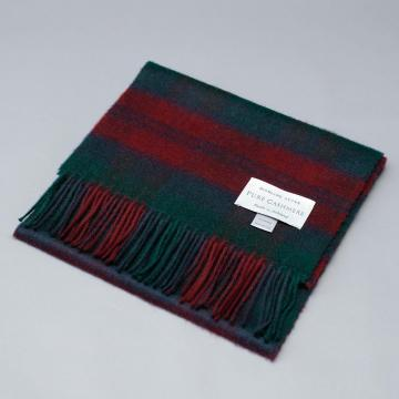 Cashmere scarf in the traditional Lindsay Tartan.