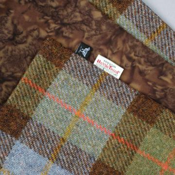 HARRIS TWEED AND LIBERTY COTTON SCARF IN MACLEOD TARTAN