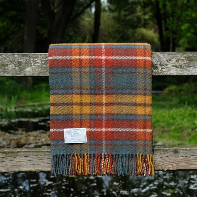 Highland Store Utility Rug Ancient Buchanan. Pure Wool Throw in Ancient Buchanan. Tartan Blanket