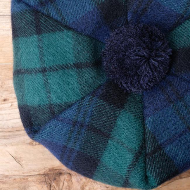 Lambswool Tam O'Shanter in Black Watch