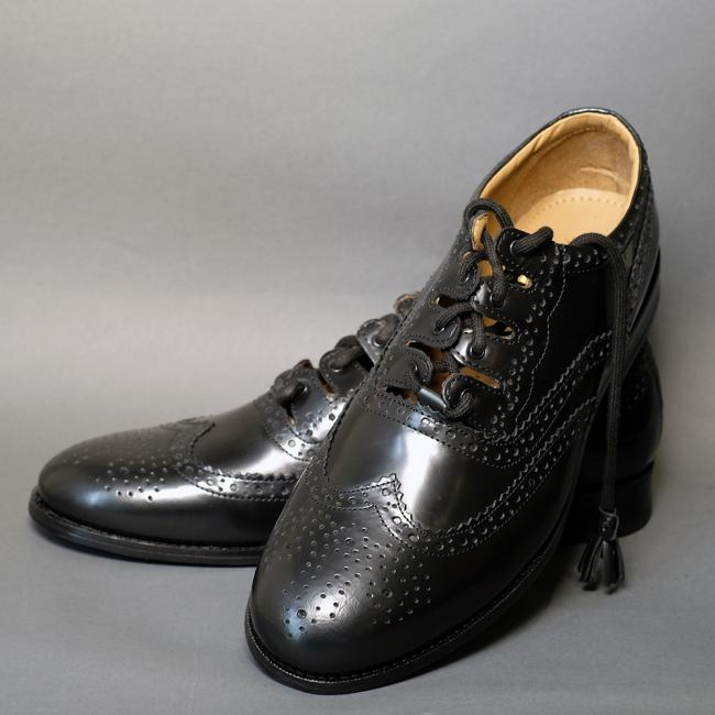 Black Ghillie Brogues by Thistle Shoes