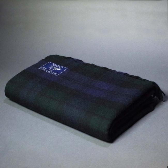 Highland Store Extra Fine Lambswool Black Watch Blanket