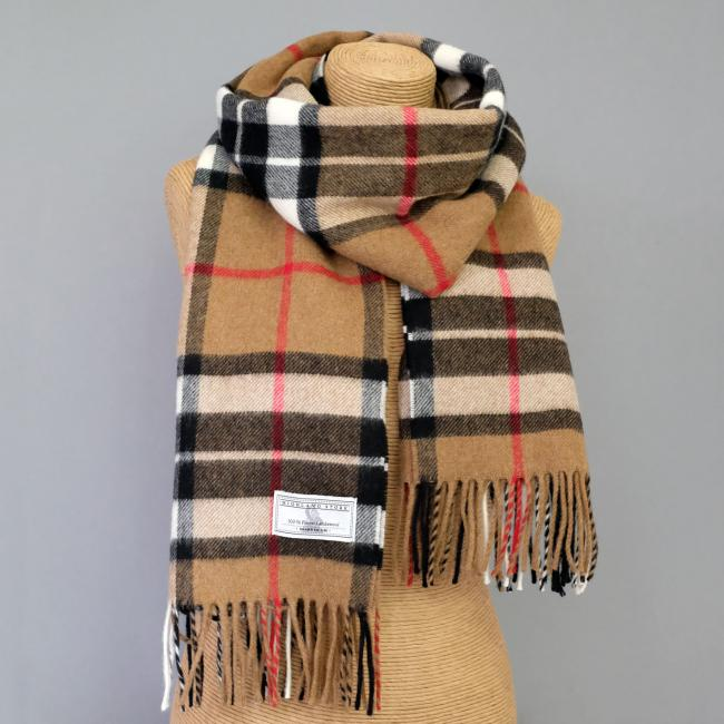 Camel Thomson Lambswool Stole