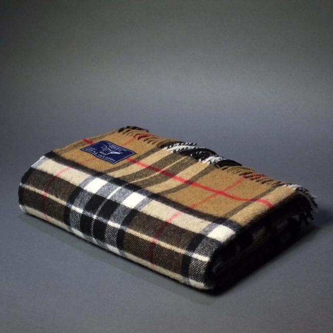 Highland Store Extra Fine Lambswool Thompson Camel Blanket
