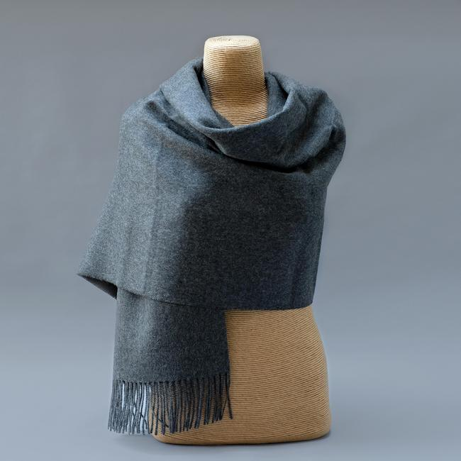 Pure Alpaca Stole in Charcoal