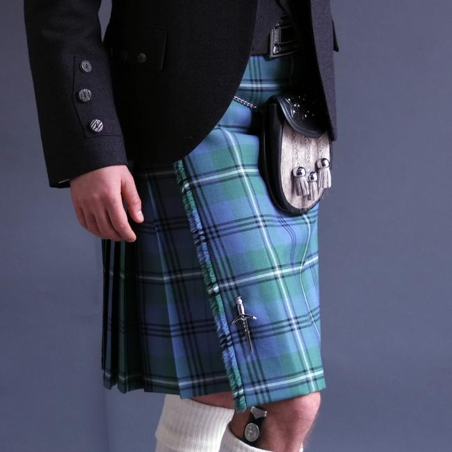 Mens 5 Yard Pure Wool Kilt