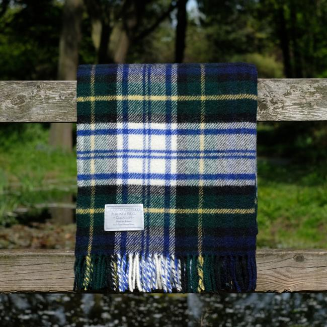 Highland Store Utility Rug Dress Gordon. Pure Wool Throw in Dress Gordon. Tartan Blanket