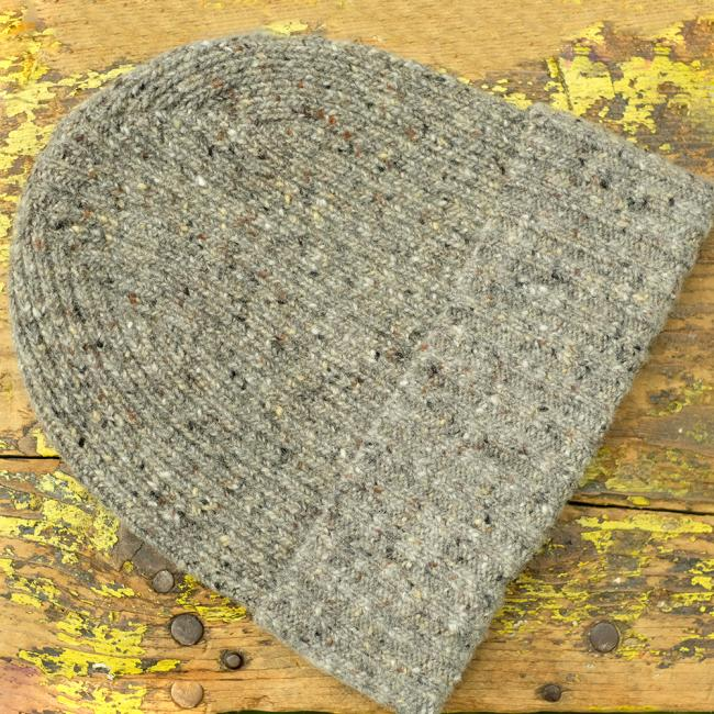 Speckled Beanie Hat in Grey