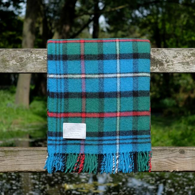 Highland Store Utility Rug Hunting Ancient Robertson. Pure Wool Throw in Hunting Ancient Robertson. Tartan Blanket