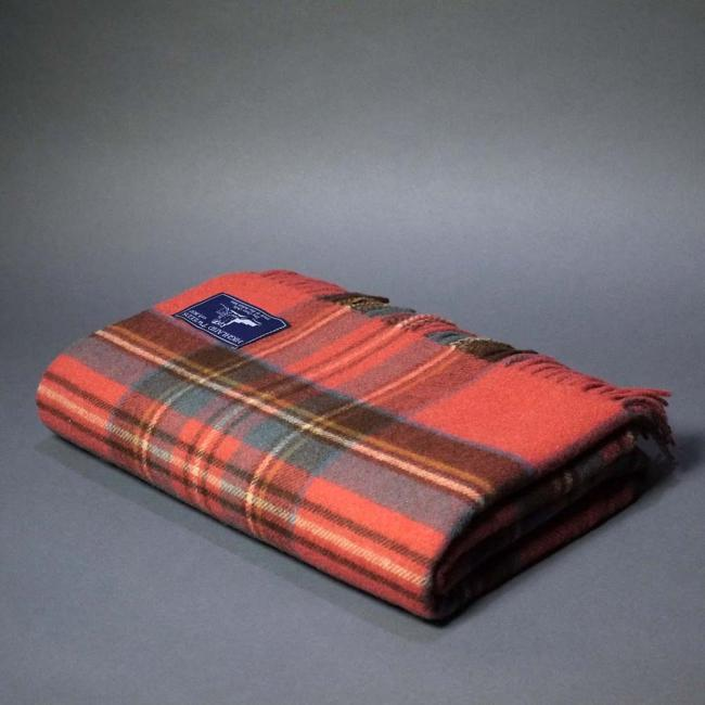 Highland Store Extra Fine Lambswool Antique Royal Stewart Blanket