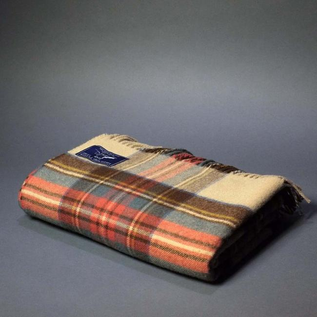 Highland Store  Extra Fine Lambswool Antique Dress Stewart Blanket