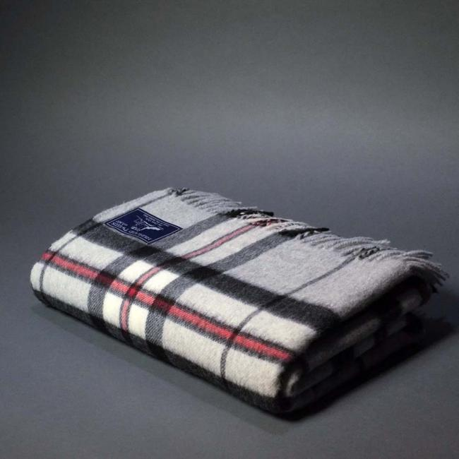 Highland Store Extra Fine Lambswool Grey Thompson Blanket