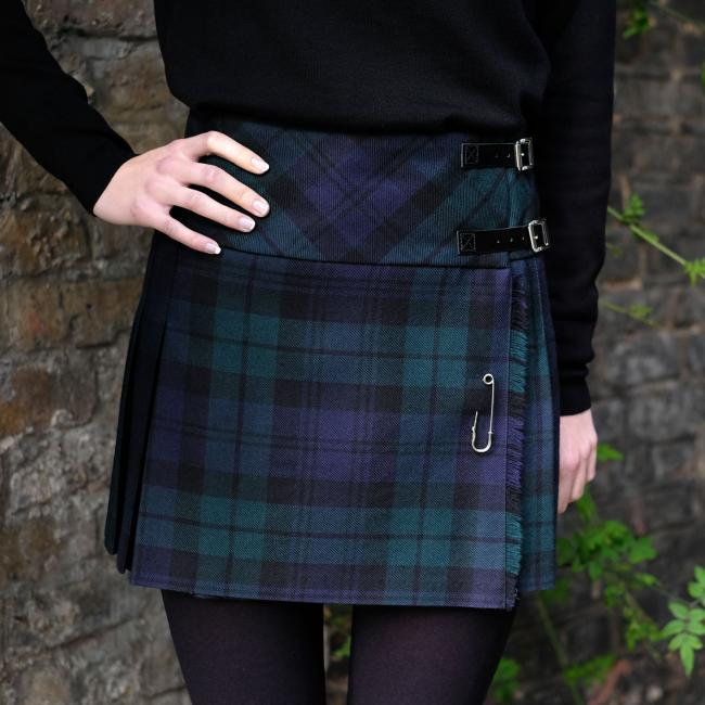 Fashion Kilt in Black Watch Tartan