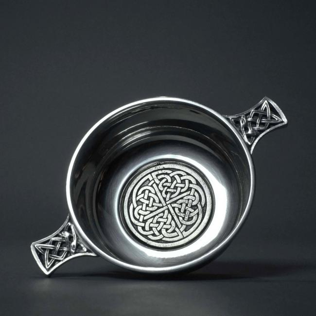 Pewter Quaich with Celtic Design